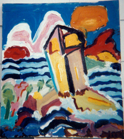'Lighthouse' - Painting by Stephen Soitos